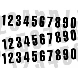 Numéros noir 160 x 75 mm (par 3)