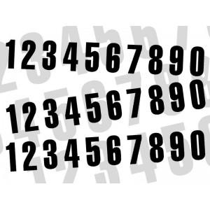 Numéros blanc 160 x 75 mm (par 3)