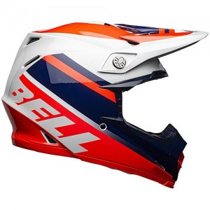Casque Bell Moto-9 MIPS PROPHECY Rouge/Navy/Gris