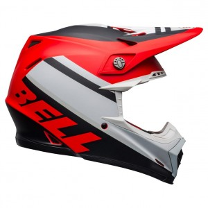 Casque Bell Moto-9 MIPS PROPHECY Rouge/Blanc/Noir