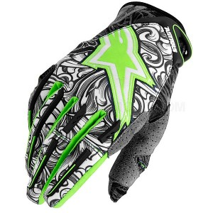 Gants-ALPINESTARS-Charger-Green/Black/white