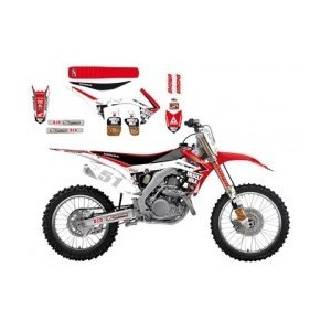 Kit Déco + selle Replica 2014 Blackbird Honda Hrc Crf250/450