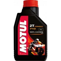 Huile 2T Motul 710 1 Litre 100% Synthèse