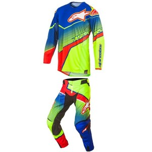 Tenue Alpinestar Techstar Venom Blue Cyan