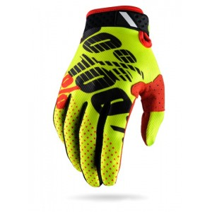 Gants 100% Ridefit Black Red