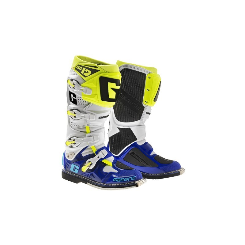 bottes gaerne sg12 white bottes motocross gaerne champion accessoires. Black Bedroom Furniture Sets. Home Design Ideas