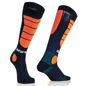 Chaussettes Acerbis Mx Impact - Orange/Black