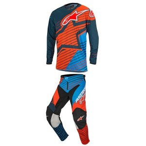 Tenue Alpinestar Racer Braap Orange Kid