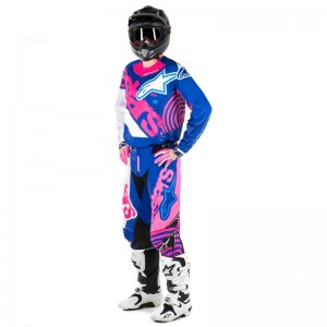 Tenue Alpinestar Techstar Venom Blue Yellow