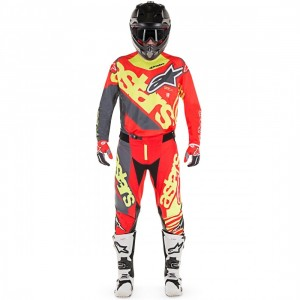Tenue Alpinestar Techstar Venom Red Yellow Fluo Anthracite