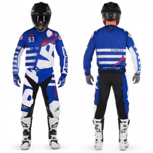 Tenue Alpinestars Racer Braap Black White Red 2018