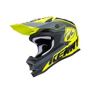 casque kenny performance kid jaune fluo gris mat 2018