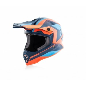 Casque Acerbis kid bleu et orange 2019
